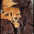 P'tits biscuits mous bi-goût beurre de cacahuètes et chocolat