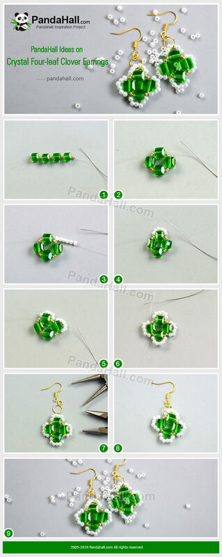 2-PandaHall-Ideas-on-Crystal-Four-leaf-Clover-Earrings