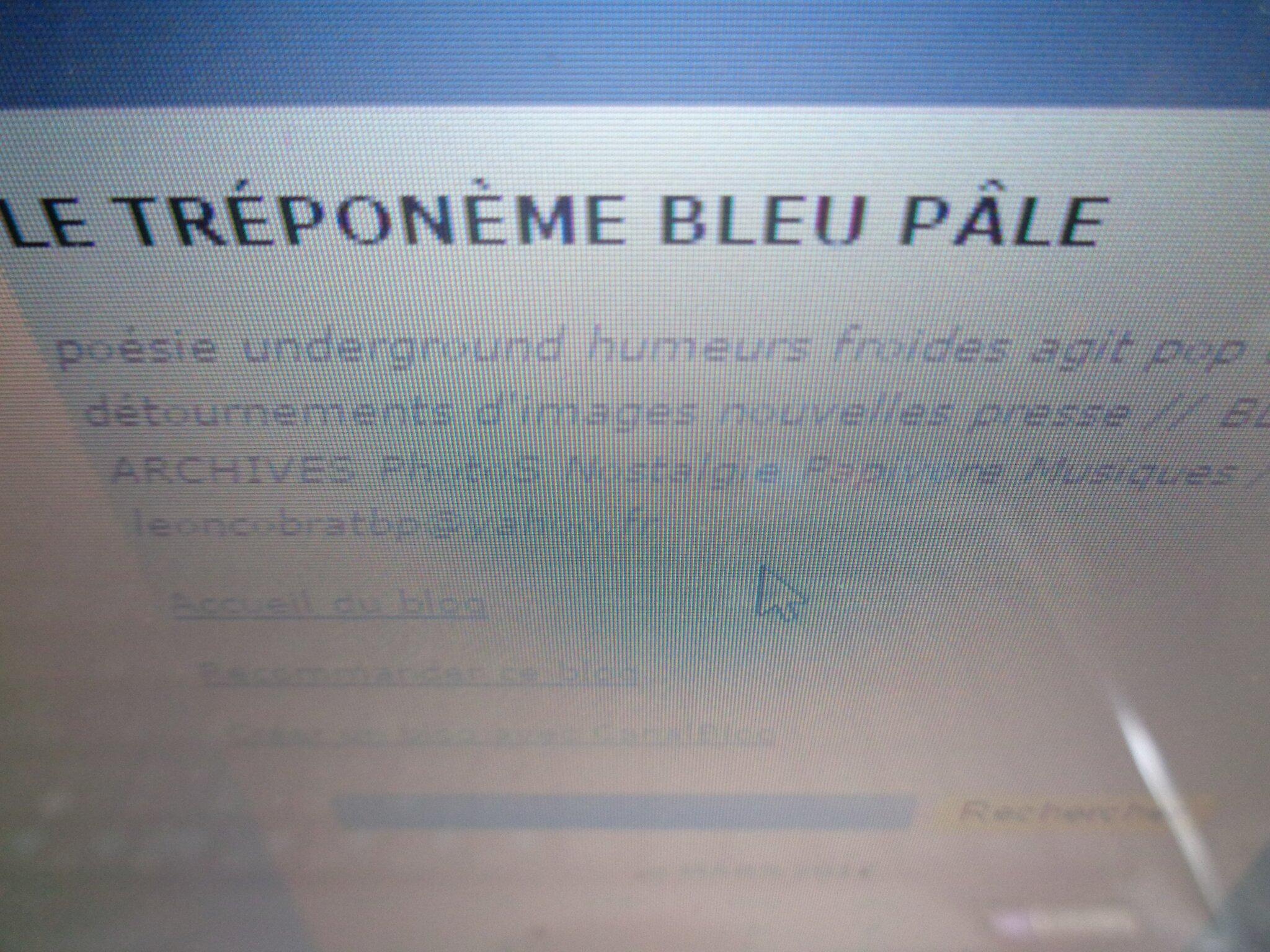 Sur Le Tréponème Bleu Pâle, quelques textes de C.-L. Desguin