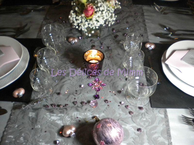 ma table de no l en gris argent et vieux rose les d lices de mimm. Black Bedroom Furniture Sets. Home Design Ideas