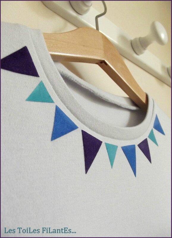 Jupe Cocooning velours milleraies violet et tee-shirt triangle1