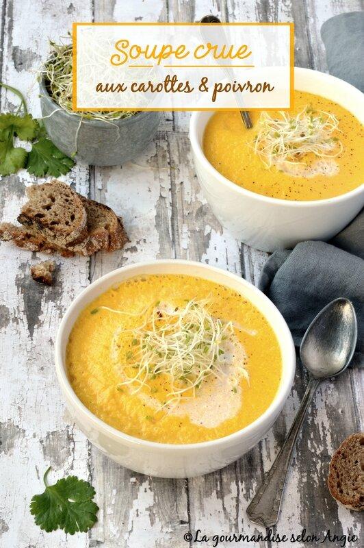 velouté cru carottes poivron vegan 1