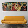 Canapé vintage 60's jaune