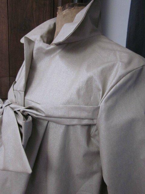 Ciré AGLAE en coton enduit beige pailleté (6)
