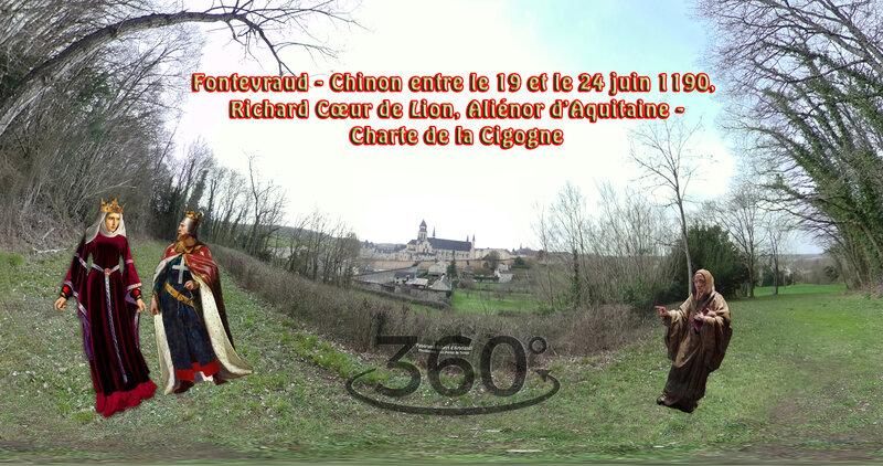 Fontevraud - Chinon entre le 19 et le 24 juin 1190, Richard Cœur de Lion, Aliénor d'Aquitaine - Charte de la Cigogne