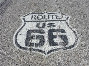 Route US 66 on the road (1024x768)