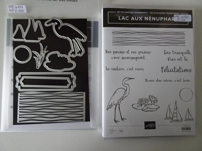 26c Tampons et framelits Lac aux nénuphars