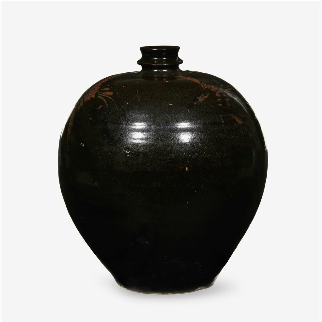 A Chinese 'Henan' iron painted black glazed vase, Jin dynasty (1115–1234)