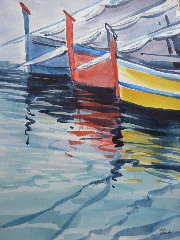 Aquarelle - Barques Catalanes