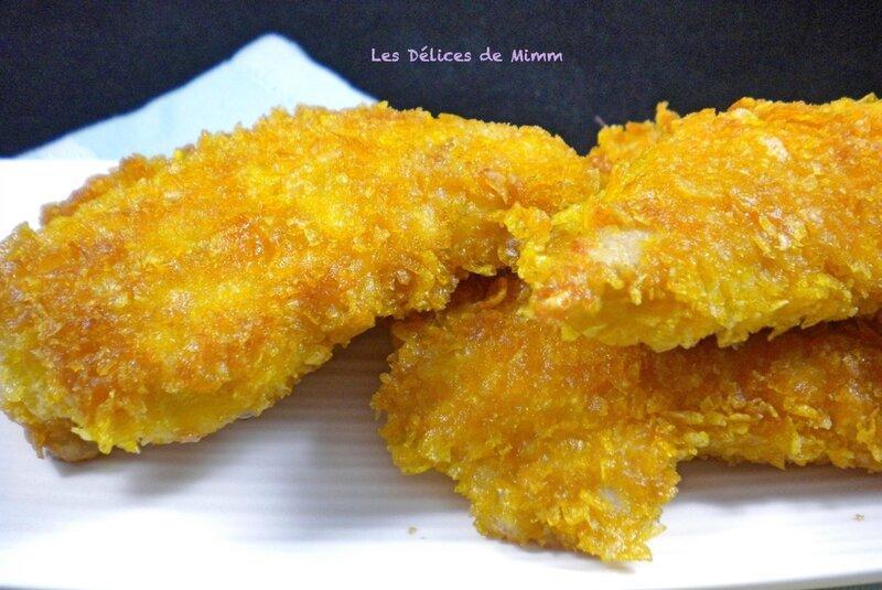 Aiguillettes de poulet panées aux corn flakes (recette sans gluten) 4
