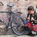Gonflette écossaise de vélo