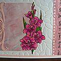 Carte fleurie rose