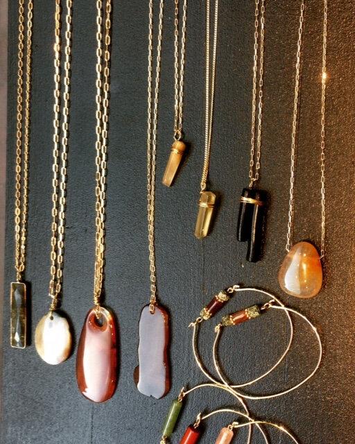 collier bracelets cornaline quartz jaspe bijoux homemade boutique Avant Après Montpellier