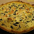 Quiche saumon-courgettes-kiri