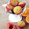 Muffins orange et pavot, sans gluten