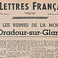 Oradour, les lettres françaises 1944