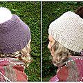 Quatre bonnets, une écharpe et du magic loop !