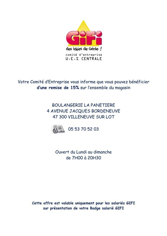 REDUCTION SALARIES GIFI - BOULANGERIE LA PANETIERE - VILLENEUVE SUR LOT-1