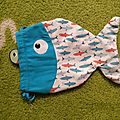 Pochon poisson pour jeu de pêche à la ligne