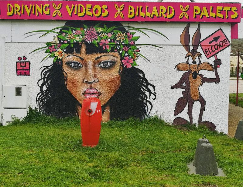 Seignosse, Le Penon, graffiti, insta