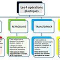 Les 4 opérations plastiques : présentation générale