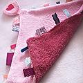 doudou étiquette rose anne bhc-1