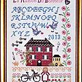 SAL (La Maison Du Bonheur) Organisé Par Ladyfée 2013 Grille boderie passion martine 290 Finition encadré 20x30cm 1