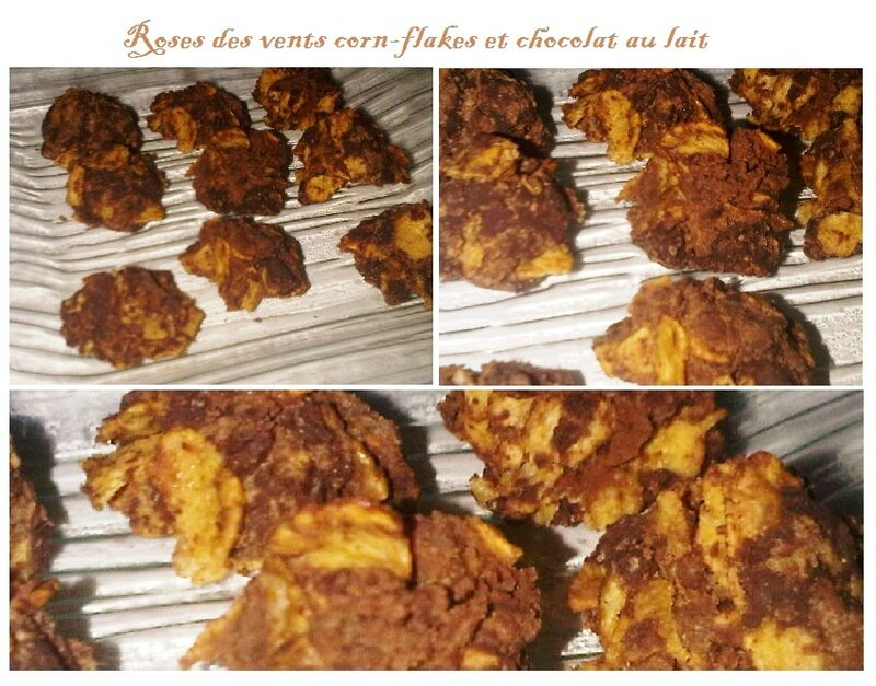 Rose des vents corn-flakes et chocolat au lait