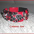 251 - Bracelet rouge-noir