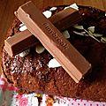 Gâteau fourré kitkat