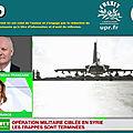 réaction de françois asselineau sur russia today, suite à l'intervention française en syrie