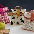 Idée cadeau de noël avec de jolis tissus imprimés : le sac goûter pour enfant à coudre
