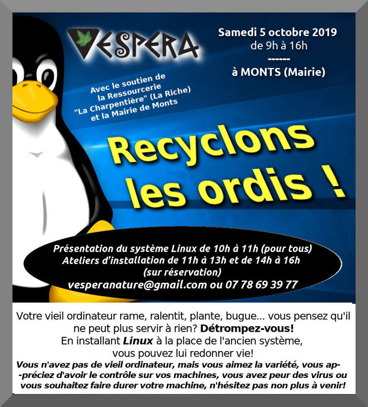 affiche LINUX PARTY 2 2019