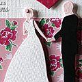 05. blanc, rose, noir et vert - couple de mariés