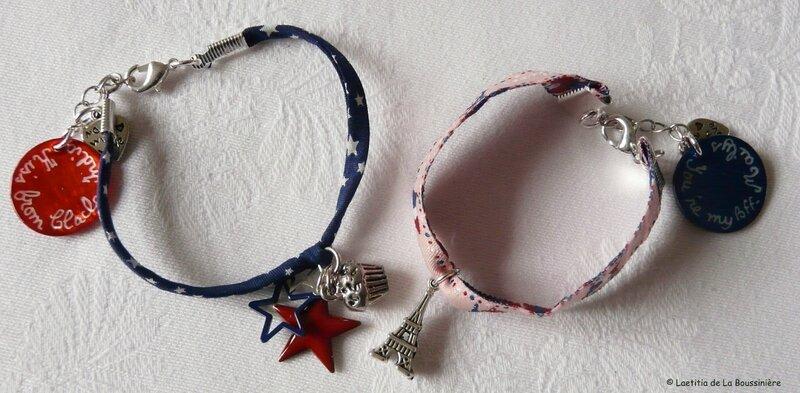 Bracelet US et bracelet Paris (personnalisés)