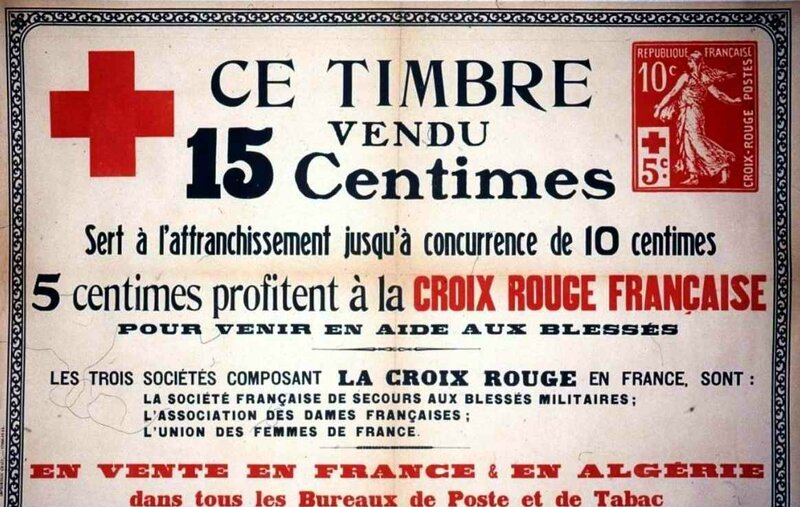 Timbre croix rouge