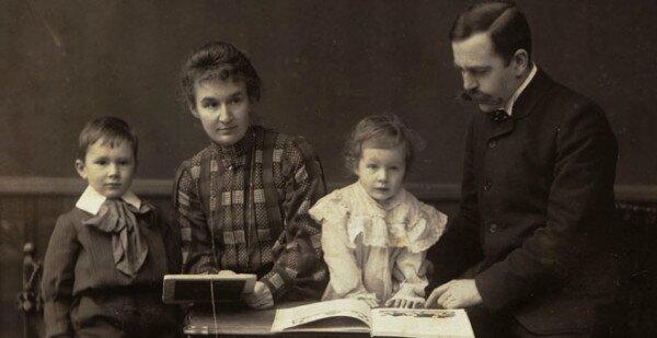 La famille Hahnloser, vers 1902-1903