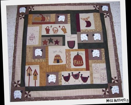 BOM Marie et son countru quilt -top