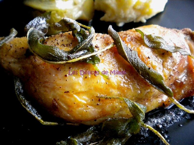 Cuisses de poulet au beurre de sauge 4