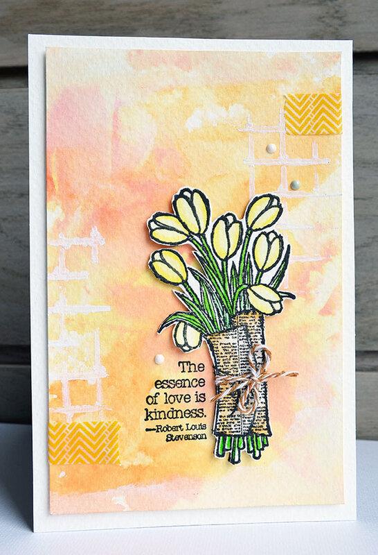 blogorel carte cardscrapanddiy tulipes