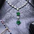 An impressive emerald and diamond necklace