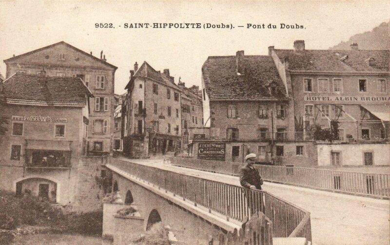 CPA Saint-Hippolyte Pont du Doubs