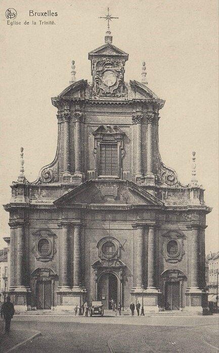 CPA Bruxelles Eglise de la Trinite