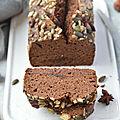 Cake chocolat & pruneaux aux épices chaï #glutenfree #vapeur