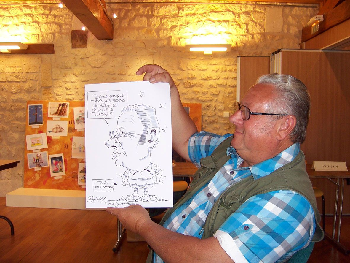 caricature en direct