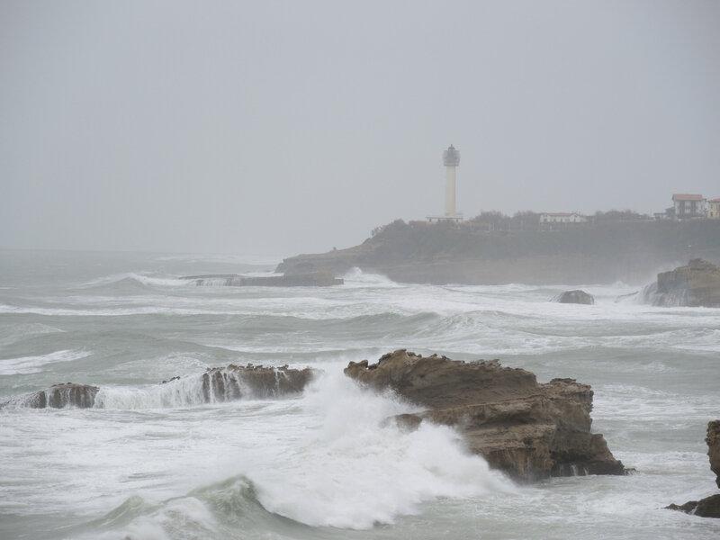 Biarritz, paysage de pluie