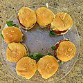 Mini burger bbq