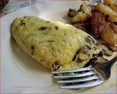 Cèpes - omelette