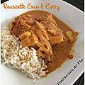 Roussette coco et curry