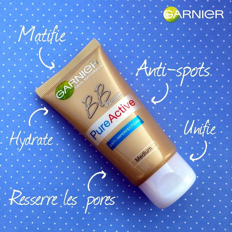 Garnier: la BB crème Pure Active pour les peaux grasses.